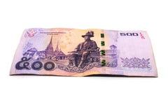 500 billets de banque thaïlandais de baht Billets de banque de devise utilisés dans les lois de photo libre de droits
