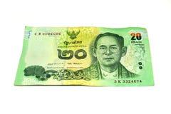 20 billets de banque thaïlandais de baht Billets de banque de devise utilisés dans les lois de T image stock