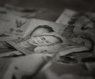 Billets de banque thaïlandais, S.M. King Bhumibol Adulyadej, Rama IX de la dynastie de Chakri Photos libres de droits