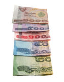 Billets de banque thaïs Image stock