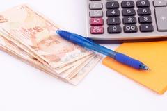 Billets de banque turcs Image libre de droits