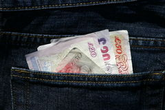 Billets de banque utilisés Photo libre de droits