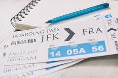 Billets de carte d'embarquement Photos stock