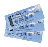 Billets de carte d'embarquement de ligne aérienne au ` de Porto de ` d'isolement sur le blanc Le contenu de l'image est totalemen Photo stock