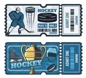 Billets de coupe de hockey sur glace, vecteur illustration stock