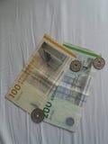 Billets de couronne danoise et monnaie, Danemark photos libres de droits
