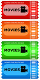 Billets de film Image libre de droits