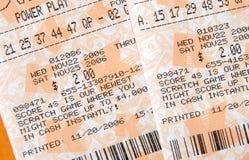 Billets de loterie photo stock