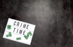 Billets de temps et de film de crime avec l'espace de copie Photographie stock libre de droits