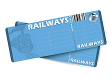Billets de train illustration libre de droits