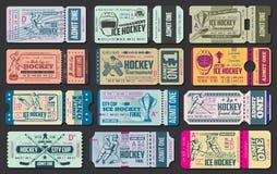 Billets de vecteur de match de hockey de glace illustration libre de droits
