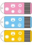 Billets de ventes, étiquettes d'étiquette Photos libres de droits
