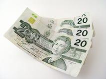 Billets de vingt dollars images libres de droits