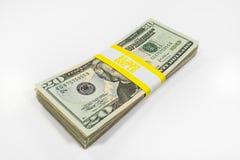 Billets de vingt dollars avec la courroie de devise photo libre de droits