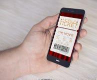 Billets mobiles de cinéma images stock