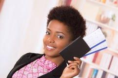 Billets noirs de femme de bureau Photo libre de droits