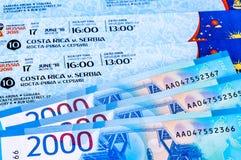 Billets pour la coupe du monde 2018 de la FIFA en Russie, Samara Arena, Cos Image libre de droits