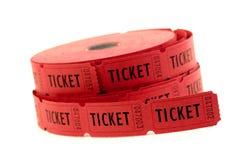 Billets utilisés pour l'entrée dans un événement Images libres de droits