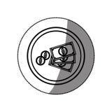 Billette e monete Fotografie Stock Libere da Diritti