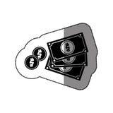 Billette e monete Fotografia Stock Libera da Diritti