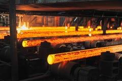 Billettes chaudes de tube de metall Photos libres de droits