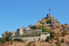 Billi castello di Billi城堡看法在彭纳比利 免版税库存照片
