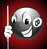 Billiard. Funny eight ball laughing vector Royalty Free Stock Photography