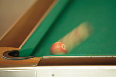 Billiard. Speedy balls on billiard table - motion blur Royalty Free Stock Photo