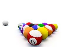 Billiard. 3d image of billard balls Royalty Free Stock Images
