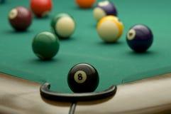 Billiard. Balls on the pool table Stock Photo