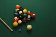 Billiard. Balls on the pool table Stock Images