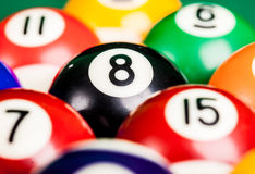 Billiard. Pool billiard spheres background Stock Photos