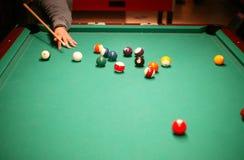 Billiard. View of a billiard game Stock Image