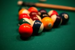 Billiard. View of a billiard game Stock Photos