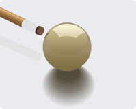 Billiard. Vector illustration of a billiard ball Stock Photo