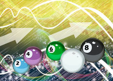 Billiard background Royalty Free Stock Images