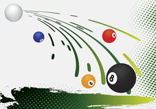 Billiard background Stock Images