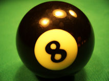 Billiard ball - 8th stock photos