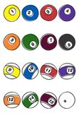 Billiard ball art Royalty Free Stock Image