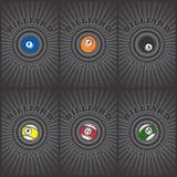 Billiard ball art Stock Photos