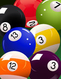 Billiard_ball_background Lizenzfreies Stockbild