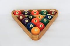 Billiard ball. S or pool ball set Royalty Free Stock Photo