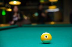 Billiard 9 ball royalty free stock photos