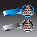 Billiard Ball Blue And Silver Ribbons Royalty Free Stock Photos