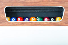Billiard ball in the box Stock Photo