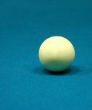 Billiard ball close up photo. White billiard ball close up photo Royalty Free Stock Photography
