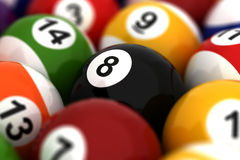 Billiard Ball Closeup Royalty Free Stock Photography