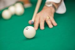 Billiard ball closeup Royalty Free Stock Images