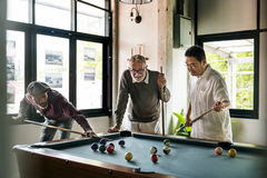 Billiard Ball Club Leisure Sport Shot Team Game Concept Stock Photo