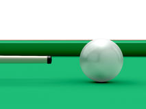 Billiard Ball and Cue Royalty Free Stock Image